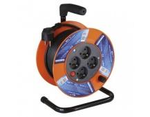 PVC prodlužovací kabel na bubnu – 4 zásuvky, 15m, 1mm2