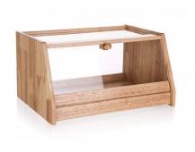 BANQUET Chlebník dřevěný BRILLANTE 38 x 30 x 20 cm, s plastovým víkem
