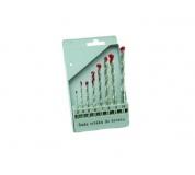 Sada vidiových vrtáků 8ks 3-10mm, PVC