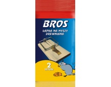 Bros - pastička dřevěná malá myš sada 2 ks