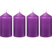 Svíčka adventní 40x75 mm - fialová (4ks)