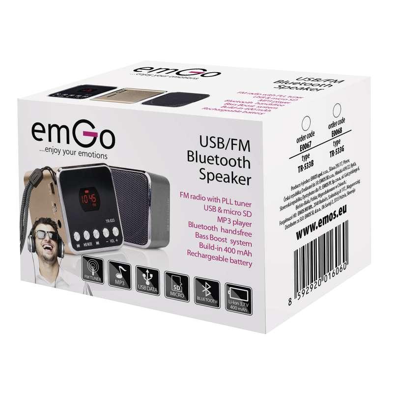 Soundbox EMOS TR533B, šedá