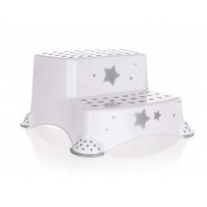 KEEEPER Stolička - dvojschůdek STARS 40 x 37 x 21 cm, bílá