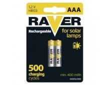 Nabíjecí baterie do solárních lamp RAVER AAA (HR03) 400 mAh - 2ks