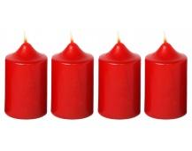 Svíčka adventní 40x60 mm - bordó (4ks)