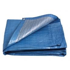 PE plachta zakrývací 8x12m 70g/1m2 modro-stříbrná