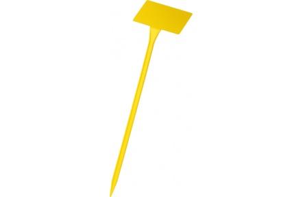 Jmenovka zapichovací SL 400 žlutá 38x10x6 cm lomená