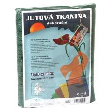 Jutová tkanina - 1,3 x 1 m tmavě zelená