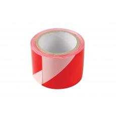 páska výstražná červeno-bílá 75mmx100m
