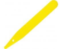 Jmenovka zapichovací L 4 žlutá 10x1,4 cm rovná
