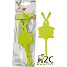 Jmenovka - Zajíc zelená (5ks)