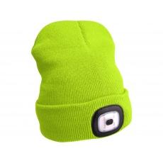 Čepice s čelovkou 45Im, nabíjecí, USB, fluores