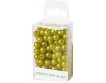 Dekorační perly - 8 mm (144 ks) světle zelené