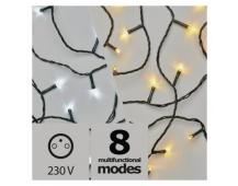 LED vánoční řetěz 2v1, 10m, studená bílá/teplá bílá,programy