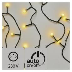 LED vánoční cherry řetěz – kuličky, 48m, teplá bílá, časovač