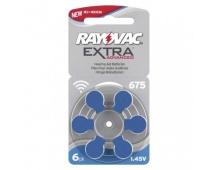 Baterie do naslouchadel RAYOVAC H675MF, blistr - 6ks
