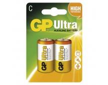 Alkalická baterie GP Ultra LR14 (C) - 2ks