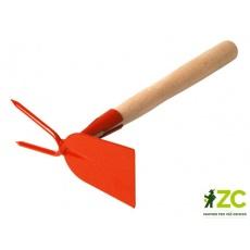 Okopávačka s nás. 27 cm Rosteto - rovná 2 hroty - oranžová