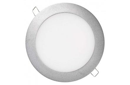 LED panel 175mm, kruhový vestavný stříbrný, 12W neutr. bílá