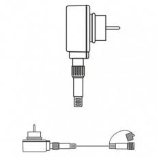 Napájecí zdroj pro spojovací řetězy Profi, 5m, bílý, čas.