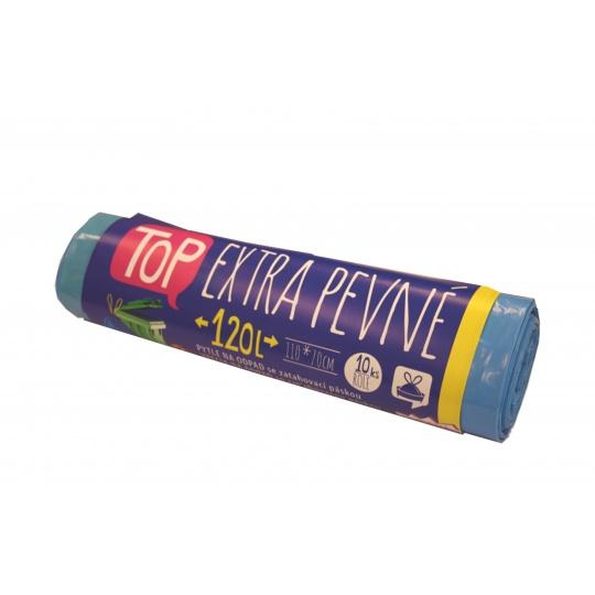 Pytel s páskou LDPE 120l modrý  10ks