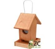 Krmítko pro venkovní ptactvo - č. 02 závěsné hnědé