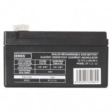 Bezúdržbový olověný akumulátor 12 V/1,3 Ah, faston 4,7 mm
