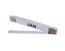 Skládací 2m JAN (PROFI, bílý, dřevo)