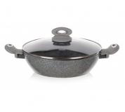 BANQUET Pánev Paella s nepřilnavým povrchem GRANITE Grey 28 x 7,5 cm, s poklicí