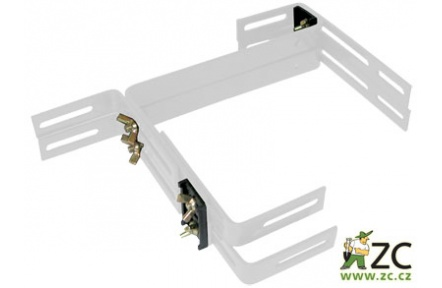 Držák na truhlík balkon - kovový Fantazie Smart (Balconera) bílý (2ks)