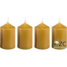 Svíčka adventní 40x60 mm - medově světlá (4ks)