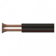 Dvojlinka ECO 2x0,75mm, černo/rudá, 100m - 100m