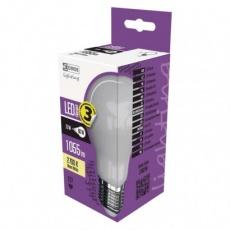 LED žárovka Filament mléčná A60 7,6W E27 teplá bílá