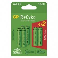 Nabíjecí baterie GP ReCyko 1000 AAA (HR03) - 6ks