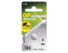 Alkalická knoflíková baterie GP 186F (LR43)