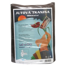 Jutová tkanina - 1,3 x 1 m hnědá
