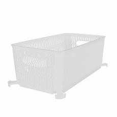 Košík UH NESTA stohovatelný bílý 29x16,5cm