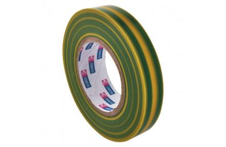 Izolační páska PVC 15mm / 10m zelenožlutá - 10ks