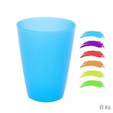 Pohár UH barevný 6ks 0,3l ASS