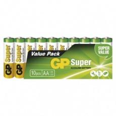 Alkalická baterie GP Super AA (LR6) - 10ks