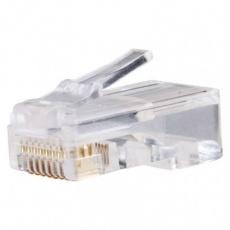 Konektor pro UTP kabel (lanko), bílý - 20ks