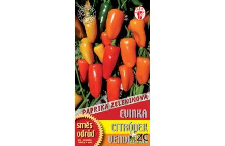Paprika - Směs Evinka, Citronek, Vendulka , na zavařování 15-20 semen