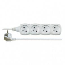 Prodlužovací kabel – 4 zásuvky, 10m, bílý