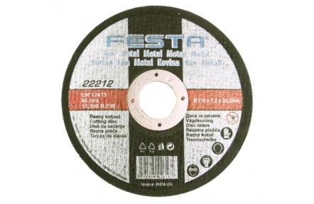 Kotouč řezný kov 125x1.2x22.2 FESTA