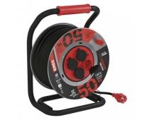 Guma-neoprén prodluž. kabel, buben kovový – 4z, 50m, 1,5mm2