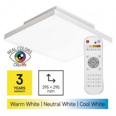 LED přisazené svítidlo EXCLUSIVE, čtvercové 18W frameless, stmív. se změnou CCT, CRI>95