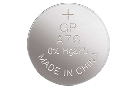 Alkalická knoflíková baterie GP A76F (LR44)