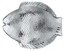 Talíř skleněný RYBA 26 x 21 cm