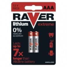 Lithiová baterie RAVER AAA (FR03) - 2ks
