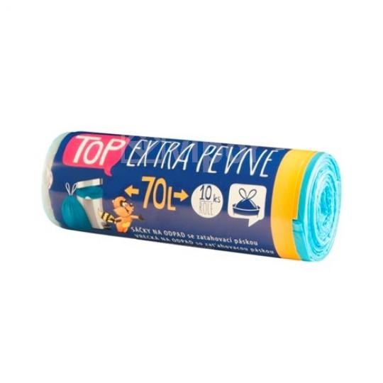 Sáček do koše s páskou HDPE 70l modré